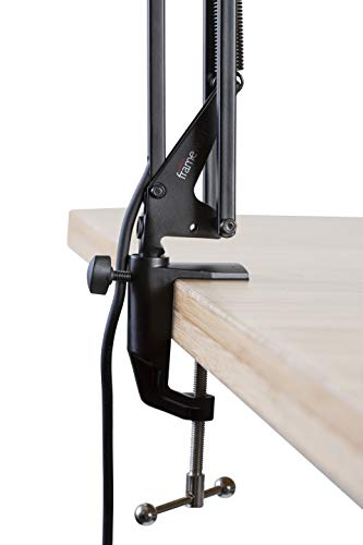 Gator Frameworks Desk-Mounted Broadcast Microphone Boom Stand for Podcasts & Recording (GFWMICBCBM1000)