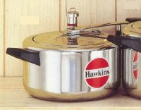Hawkins HA4L Classic Aluminum Pressure Cooker, 4-Liter by Gandhi - Appliances