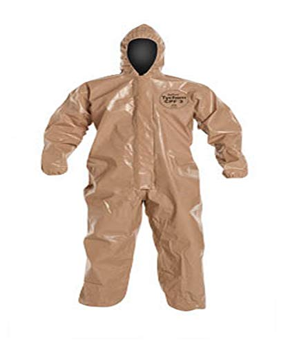 - DuPont C3127TTNXL000600 Tychem CPF 3 Coverall w/Elastic Wrists and Ankle, X-Large, Tan (Pack of 6)