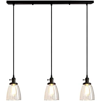 Pathson Industrial 3-Light Pendant Lighting Kitchen Island