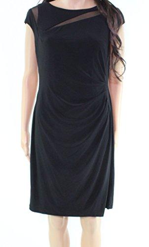 Petite Illusion - Lauren by Ralph Lauren Womens Petite Illusion Dress Black 12P