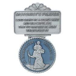McVan Inc 4350406836 VC-867 Saint Christopher Lead Free Pewter with Beautiful Blue Enamel Auto Visor Clip