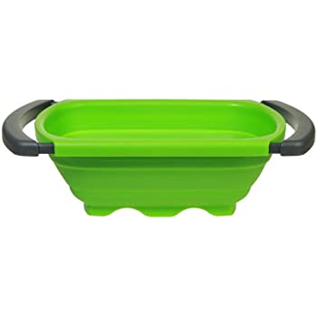 Prepworks By Progressive Collapsible Over The  Sink Colander, Green   6  Quart