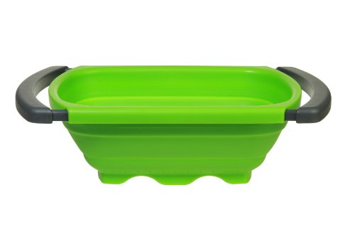 Prepworks by Progressive Collapsible Over-the -Sink Colander, Green - 6 Quart