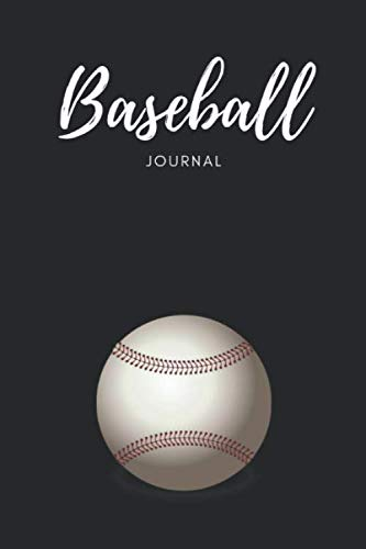 """Baseball Journal: Composition Sport Diary Notebook Novelty Gift for Baseball lover,6""""x9"""" lined blank 100 pages,white papers,Black cover"""