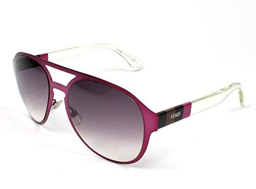 Fendi Aviator Mauve Crystal Dark Grey Shade - Sunglasses Aviator Fendi