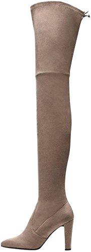 Cabuild Calaier Size 9 beige Women's Boots UOrvqx5O