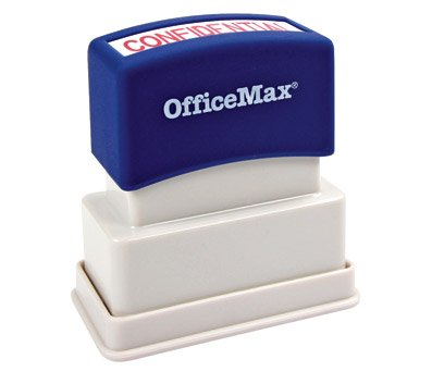 - OfficeMax Pre-Inked 1-color Message Stamps, Copy, Blue