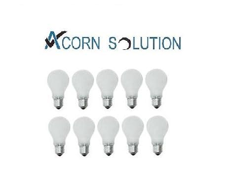 10 Pack AcornSolution 60W Pearl Light Bulbs GLS Lamp Edison Screw Cap E27