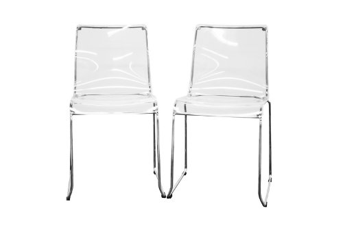 [Lino Transparent Clear Acrylic Dining Chair, Set of 2, Clear] (Acrylic Dining Chair)