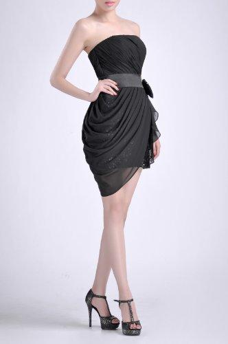 Little Bateau Chiffon Dress Black Natrual Lapis Strapless Utwpw5q