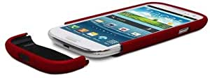 Greatshield Islide Slim-fit Polycarbonate Hard Case For Samsung Galaxy S3 S Iii (red)