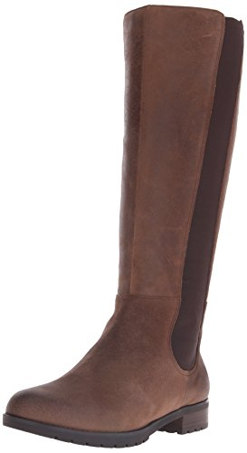 Distressed Leather Riding Boots - 5