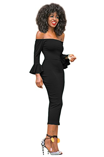 Womens Off Shoulder Cocktail Evening Party Dress - 9