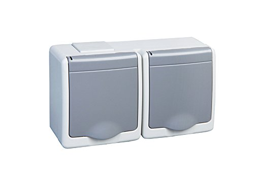 2  compartimento de enchufe IP44  16  A/250  V Schuko Depot8  –   Enchufe con Kolor