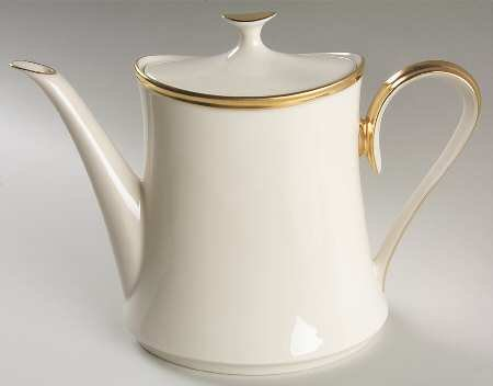 Eternal Fine Dinnerware (Lenox Eternal Tea/Coffee Pot & Lid, Fine China Dinnerware)