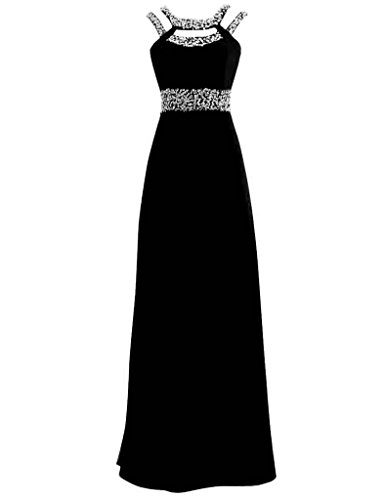 ASBridal Halter Beading Long Prom Dresses Chiffon Evening Dress Prom Party Gowns Orange US 2 - Miranda Ivory Prom Dress