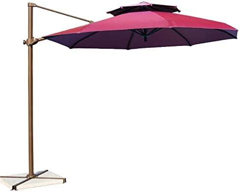 Paraguas de jardín Parasol al aire libre Paraguas de jardín, Aleación de aluminio Manguera manual Diseño doble Parte superior Cantilever Offset Paraguas de terraza Protección UV a prueba de agua: Amazon.es: Hogar
