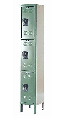 78 in. High 1-Wide 3-Tier Premium Knock-Down Locker in Green (12 in. W x 12 in. D x 78 in. H) -