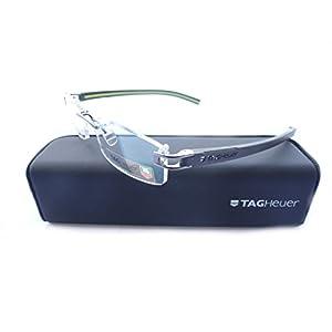 Tag Heuer Track S 7642 Eyeglasses 008 Dark/Dark Gray Anise Green 53MM
