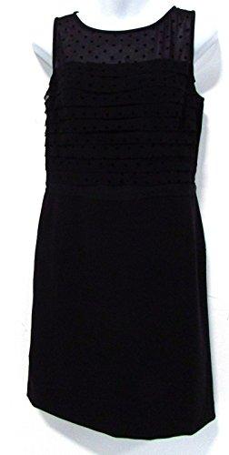 ann-taylor-loft-sheer-dotted-ruffle-little-black-cocktail-dress-size-4