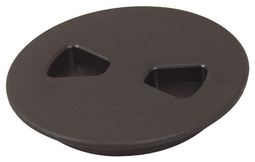 T. H. Marine DPS-4-1-DP Sure-Seal Screw Out Deck Plate - Black, 4'' by T. H. Marine
