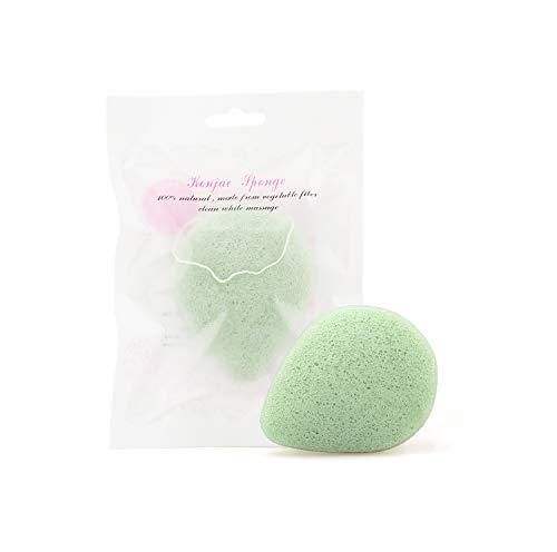 Konjac Sponge - 100% Natural Facial Sponge with Green Tea, Konjac Facial Sponge Deeply Moisturizes for All Skin Types (Best Konjac Sponge Brand)