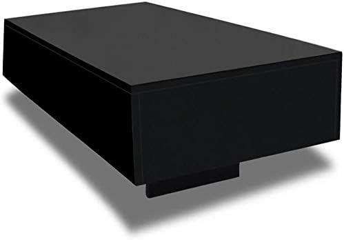 Populair Wakects Rechthoekige salontafel hoogglans woonkamertafel zwart koffietafel kantoormeubilair woonkamermeubel decoratie 85 x 55 x 31 cm guqZwfF