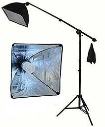 StudioFX 400W Continuous Lighting Hairlight Boom Stand Set, Weight Bag Kit / Includes 85watt = 400 Watt CFL BULB / Weight Bag / Grip ARM
