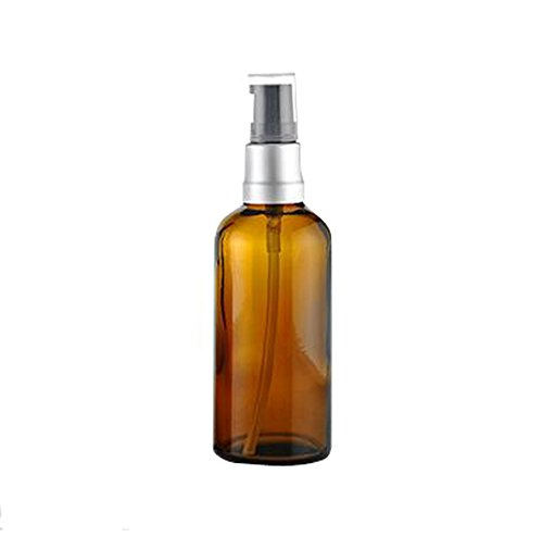 1PCS 100ml Empty Portable Amber Glass Pump Bottles Case Cont