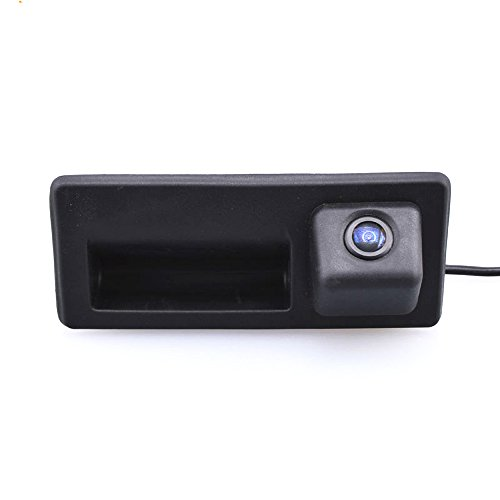LYNN Tailgate Handle Rear View Back Up Camera with Night Vision for VW A3 A4 A6 A8L VW Tiguan Touareg Sharan Touran Golf VI Variant