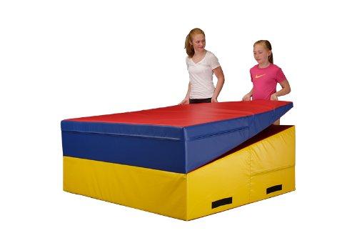 We Sell Mats Gymnastics Folding and Non-Folding Incline Cheese Wedge Skill Shape Tumbling Mat