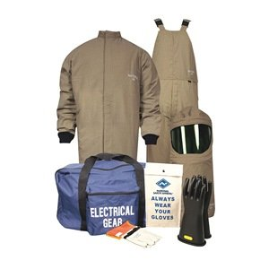 Flame-Resist Coat/Overall Kit, Kha, L, HRC4 by National Safety Apparel Inc