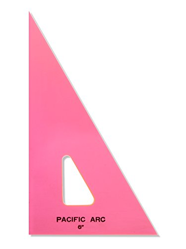(Pacific Arc Professional Fluorescent Triangles 6 in. 30/60 degrees [PACK OF 6 ])