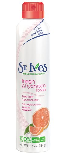 St Ives Hydration Lotion Spray, Naturally Energizing Citrus and Vitamin C 6.5 Ounce