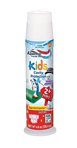Aquafresh Kids Cavity Protection Toothpaste, Bubblemint 4.6 oz(pack of 2)