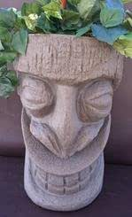 Happy Tiki Planter SandStone