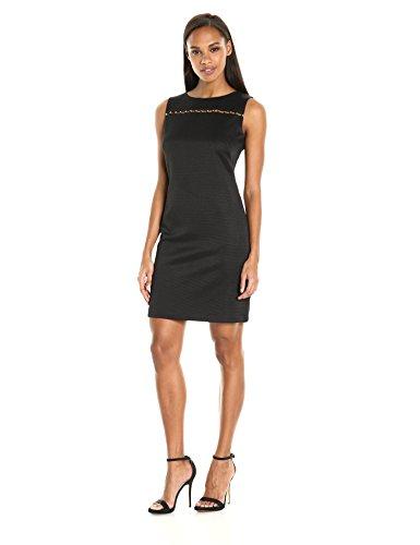 Ellen Tracy Women's Pique Wear to Work Dress with Embelli...