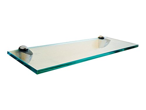 Fab Glass and Mirror S-10x18RECCHBR Rectangle Glass Shelf, 10