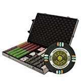 1000Ct Claysmith Gaming ''''Gold Rush'''' Chip Set in Rolling Case