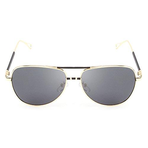 Gafas vendimia Ruiyue Sol polarizadas sol la de UV de Gafas gafas hombres Gafas de viaje clásica de marca Black Gafas la golden de masculinas Gafas de piloto De Diseñador sol de wqB4pwxr