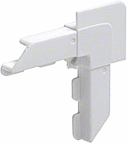 CRL White Square Lip Frame Plastic Corners for WSFL7 - pack of 100 ()