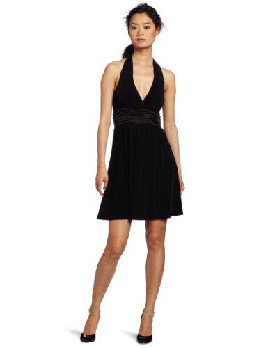 maxandcleo Women's Alexa Halter Dress, Black, 10 (Cleo Black And Dress Max)