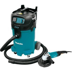 Makita VC4710X1 12 gallon Xtract Vac Wet/Dry Vacuum and 7 inch Angle Grinder
