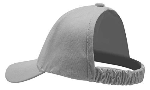 Grey Pony - Backless Ponytail Hat Baseball Women Messy Bun Pony Tail Cap (Large, Gray)
