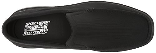Skechers Mens Relaxed Fit-Caswell-Lander Loafer, Black, 9 M US
