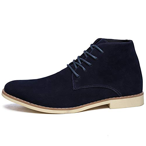 Jincosua uomo Classic morbide stringate Boots EU Walking antiscivolo Scarpe Casual da Dimensione Chukka Blu Scarpe 45 Colore suola rqw15rtx0
