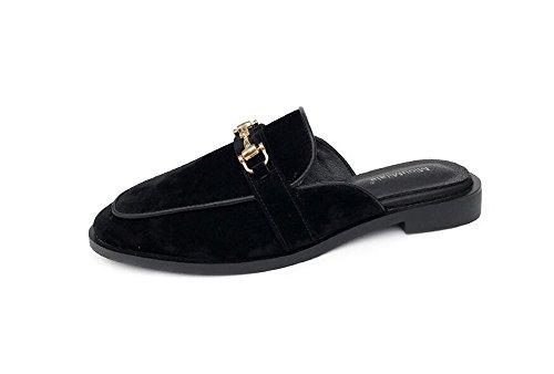 Shoes Slippers Flop Women Ladies Slip Shoes Mules Flat Women Flip On Platform Black Loafer Flat pit4tk agwHqnvn