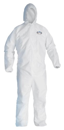 KimberlyClark KleenGuard A40 large Coverall with Hood Disposable Case of 25