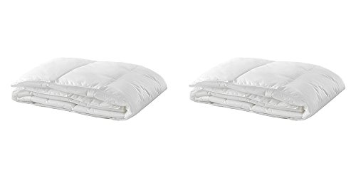 For Sale! Ikea Thin Insert for Duvet Cover, Twin, White, 2-Pack